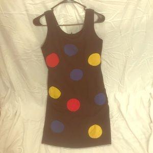Vintage fitted polka dot dress